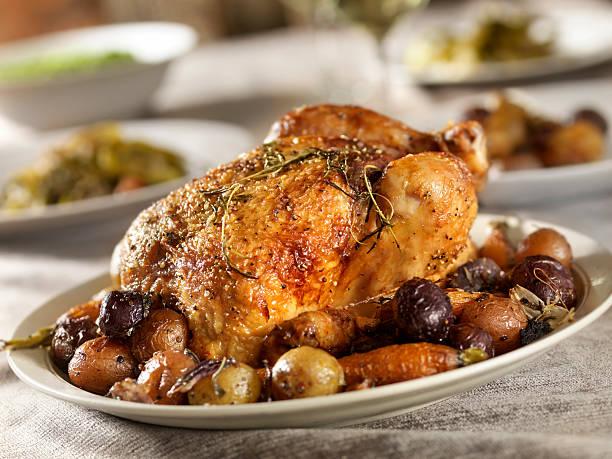 frango assado jantar - peru carne branca imagens e fotografias de stock