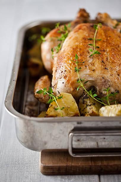 Gebratenes Huhn mit Kartoffeln – Foto