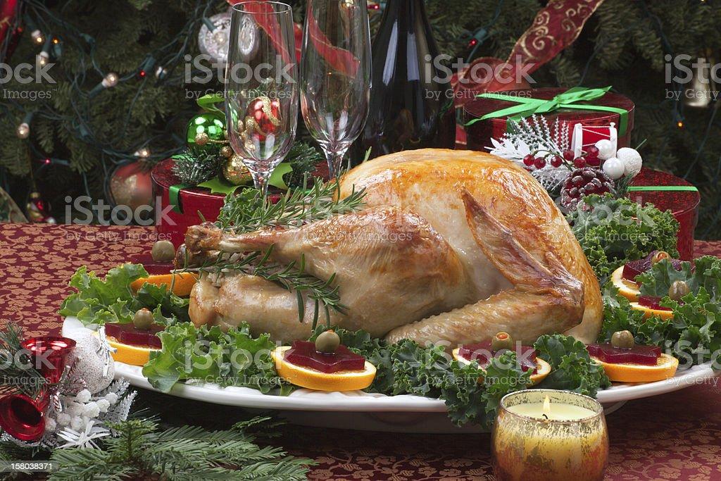 Roasted Christmas Turkey royalty-free stock photo