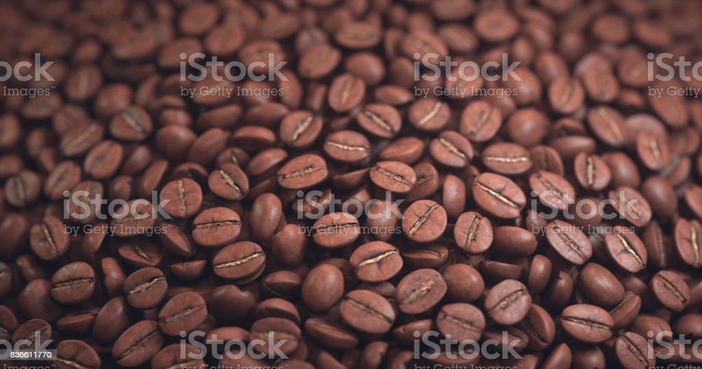 Geröstete Kaffeebohne – Foto
