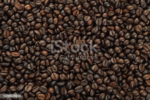 istock Roasted Coffee Beans background, Brown coffee beans for can be used as a background 1038633944