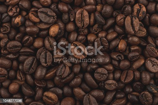 Fresh coffee grains wallpaper. Good morning. Coffee shop.