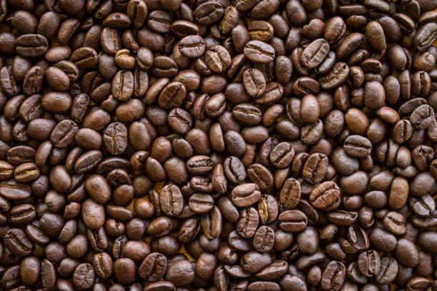 烘培的咖啡豆背景 - 咖啡 飲品 個照片及圖片檔