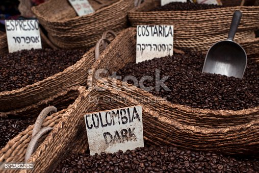 istock Roasted coffee beans. 672962262
