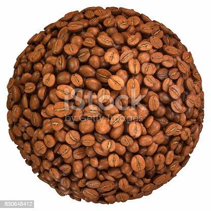 istock Roasted Coffee Beans Sphere 830648412