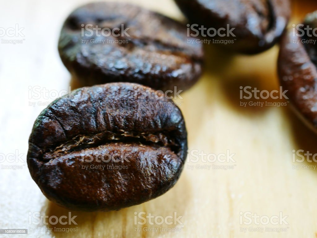 Roasted Coffee Bean, White Background, Coffee Crop,