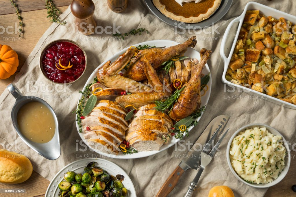Roasted Cut Up Turkey Platter For Thanksgiving Stock Photo Download Image Now Istock