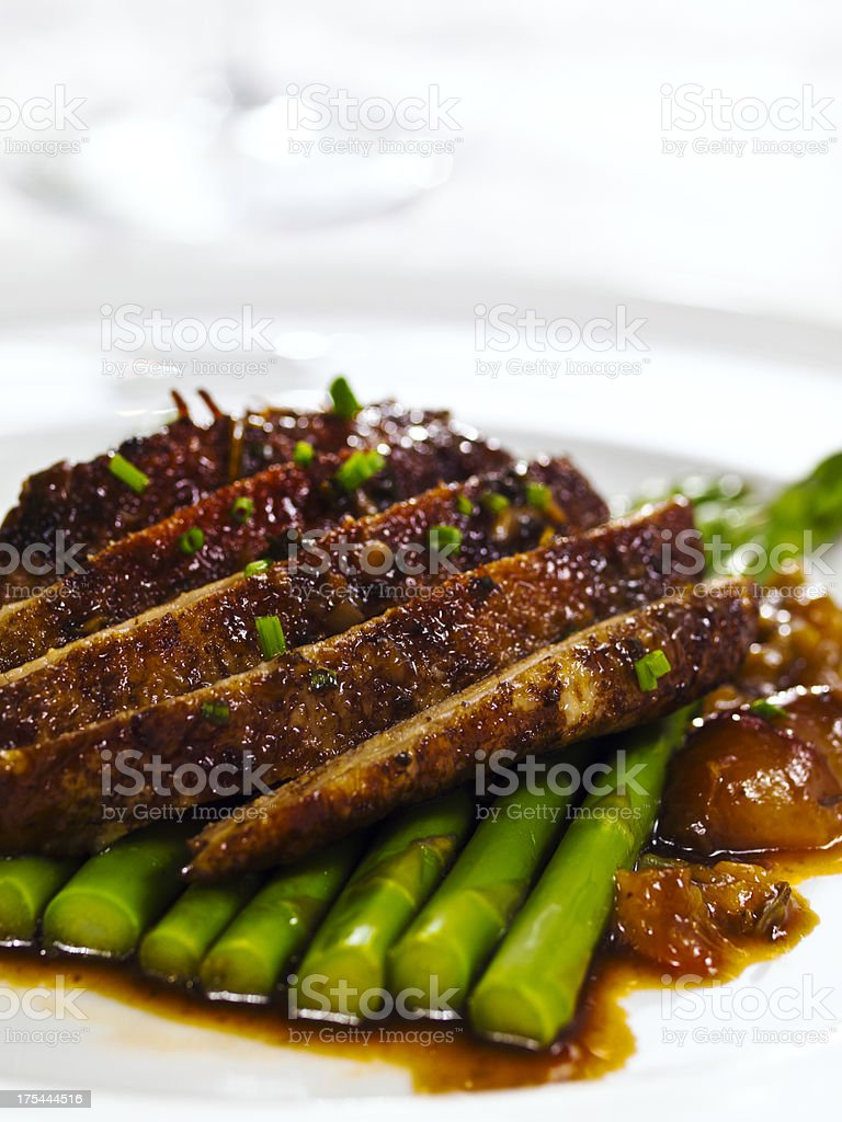 Roasted Duck Breast royalty-free stock photo