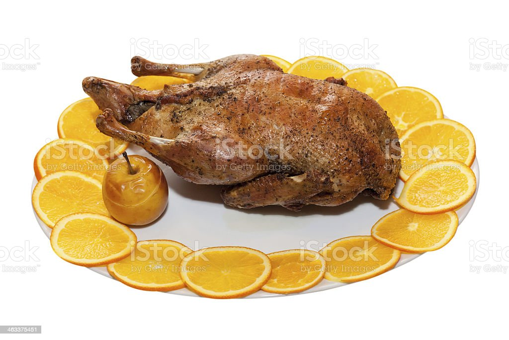 Roasted Duck; Clipping path stock photo