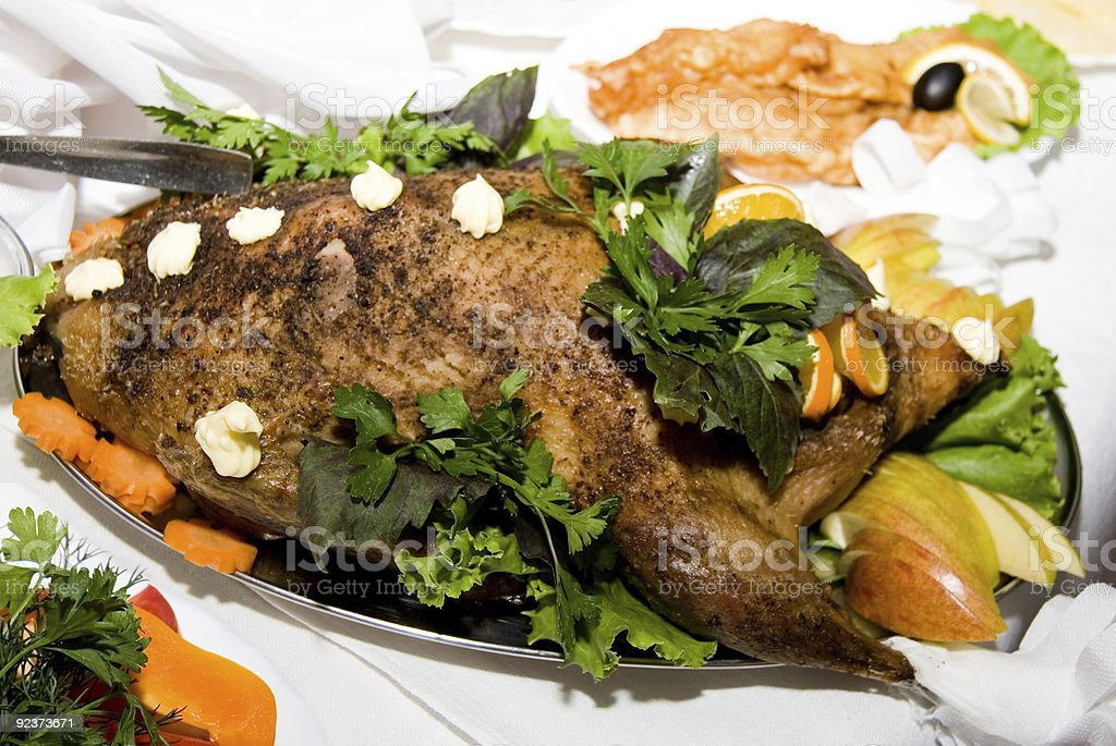 roasted duck royalty-free stock photo
