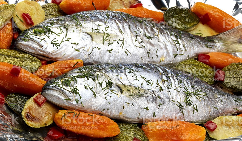 Roasted Fish (Click for more) royalty-free stock photo