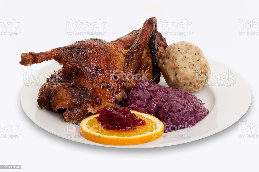 roasted goose stock photo
