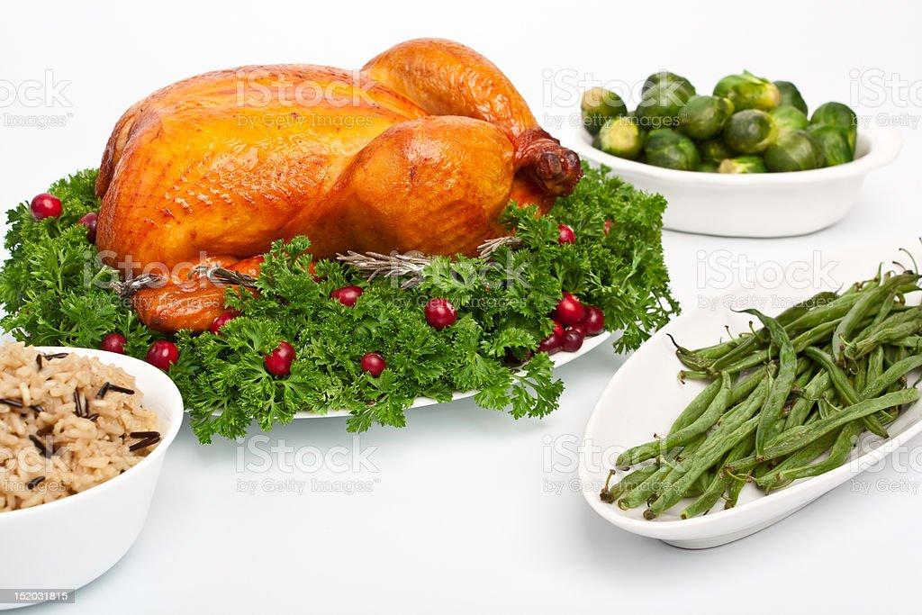 roasted holiday turkey royalty-free stock photo