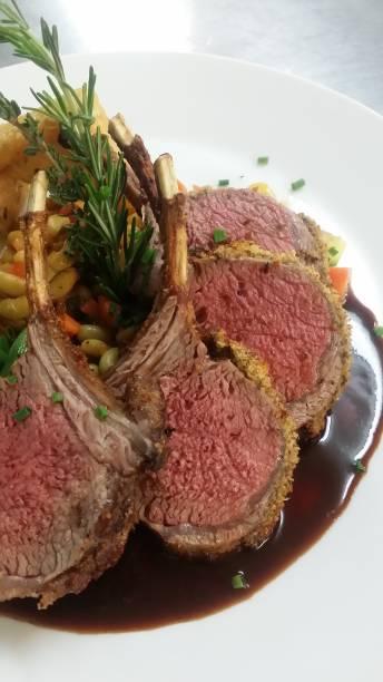 Roasted Lamb Chops stock photo