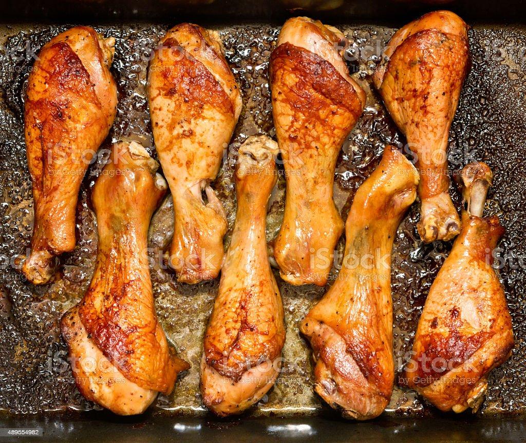 roasted legs stock photo