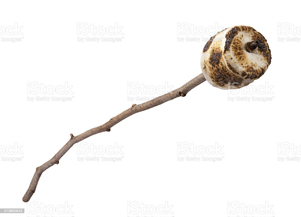 Roasted Marshmallow on a Stick stock photo