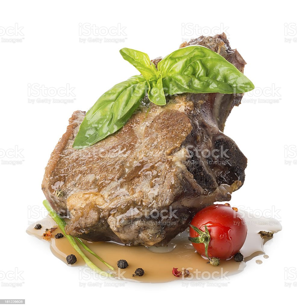 Roasted meat royalty-free stock photo