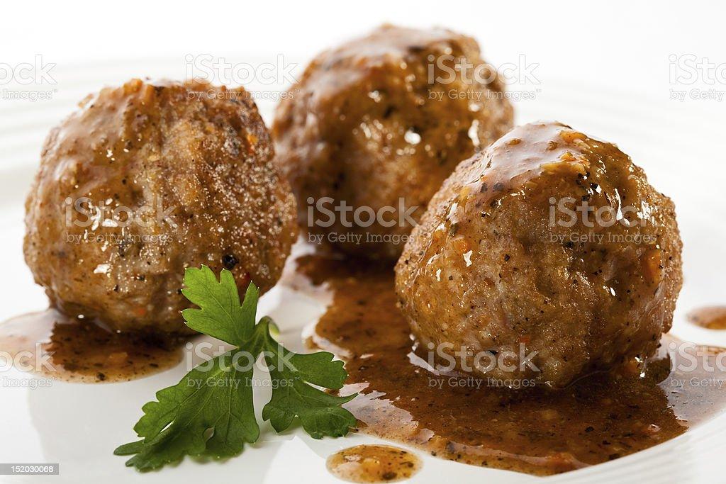 Gegrillte Fleischbällchen – Foto