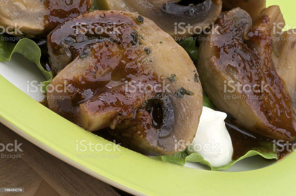 Roasted Mushrooms royalty-free stock photo
