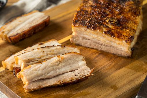 istock Roasted Organic Pork Belly Meat 1004662568