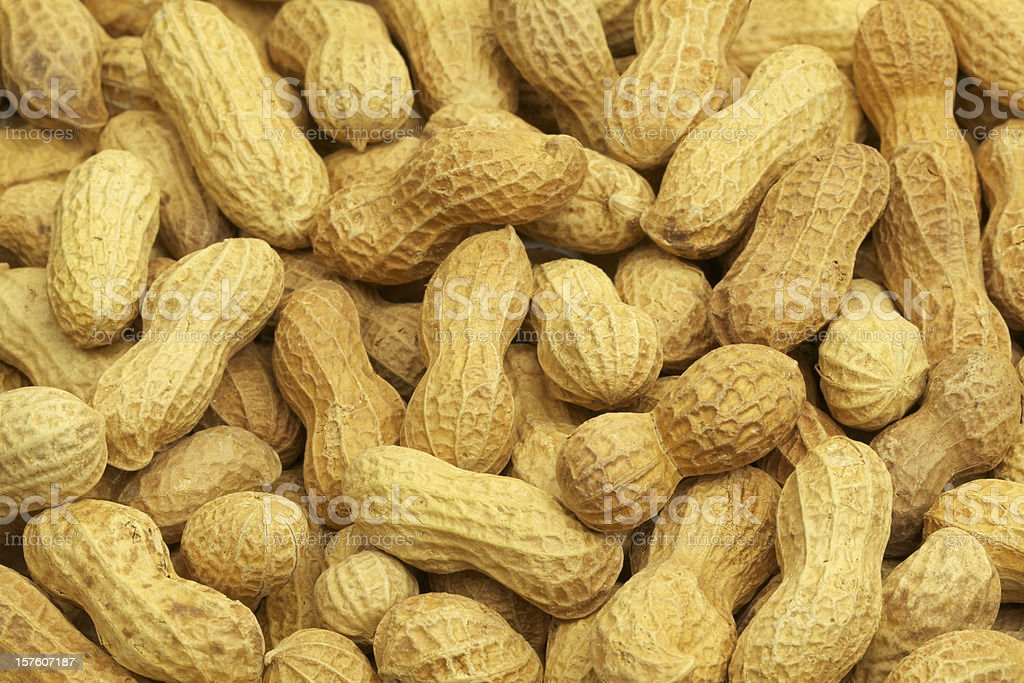 Roasted Peanuts, In Shell, Background, Heathy Eating, Food, Vegetable royalty-free stock photo
