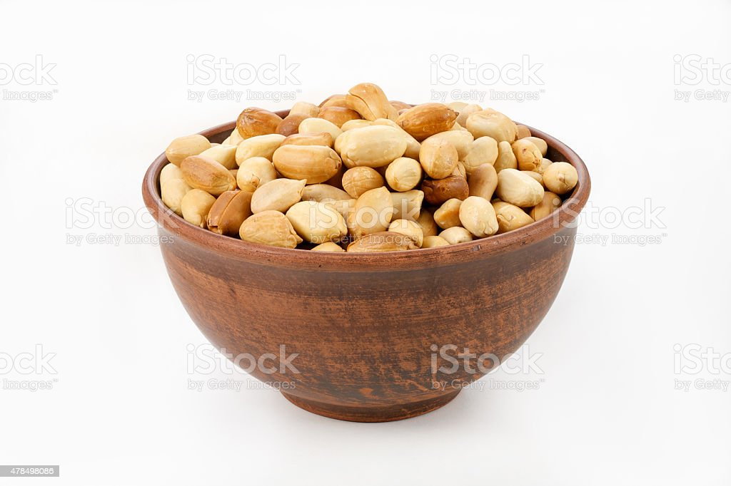 roasted peanuts stock photo