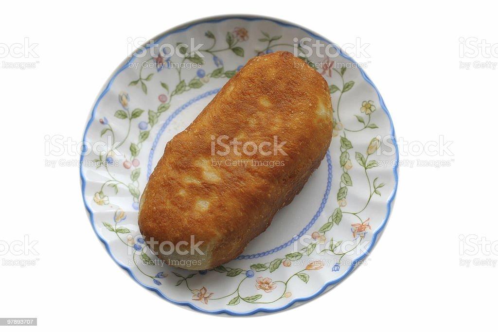 Roasted pie royalty-free stock photo