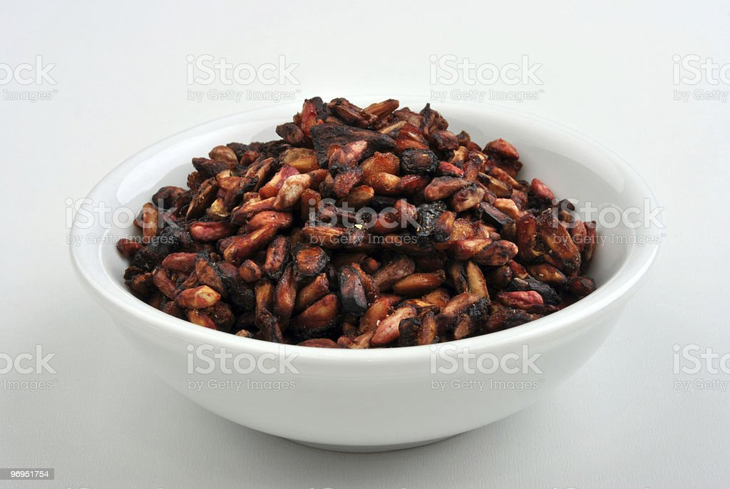 roasted pomegranate seeds ingredients for a nice salad royalty-free stock photo