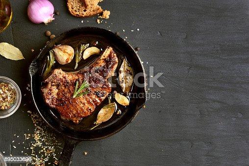 istock Roasted pork steak 895033896
