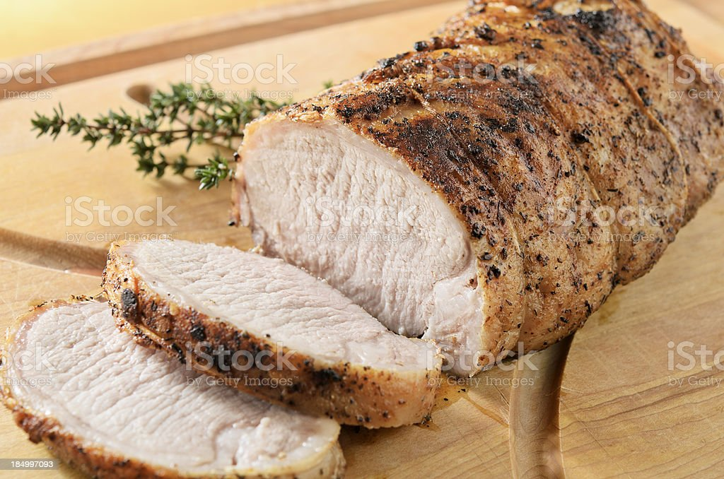 Roasted Pork Tenderloin royalty-free stock photo