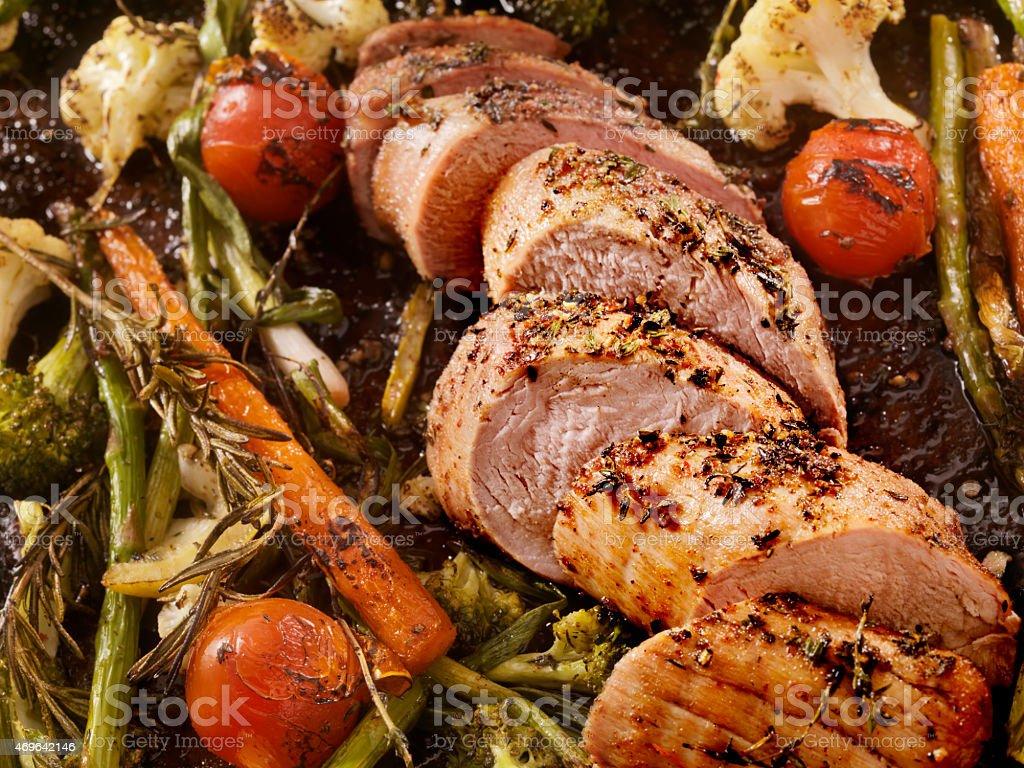 Roasted Pork Tenderloin stock photo