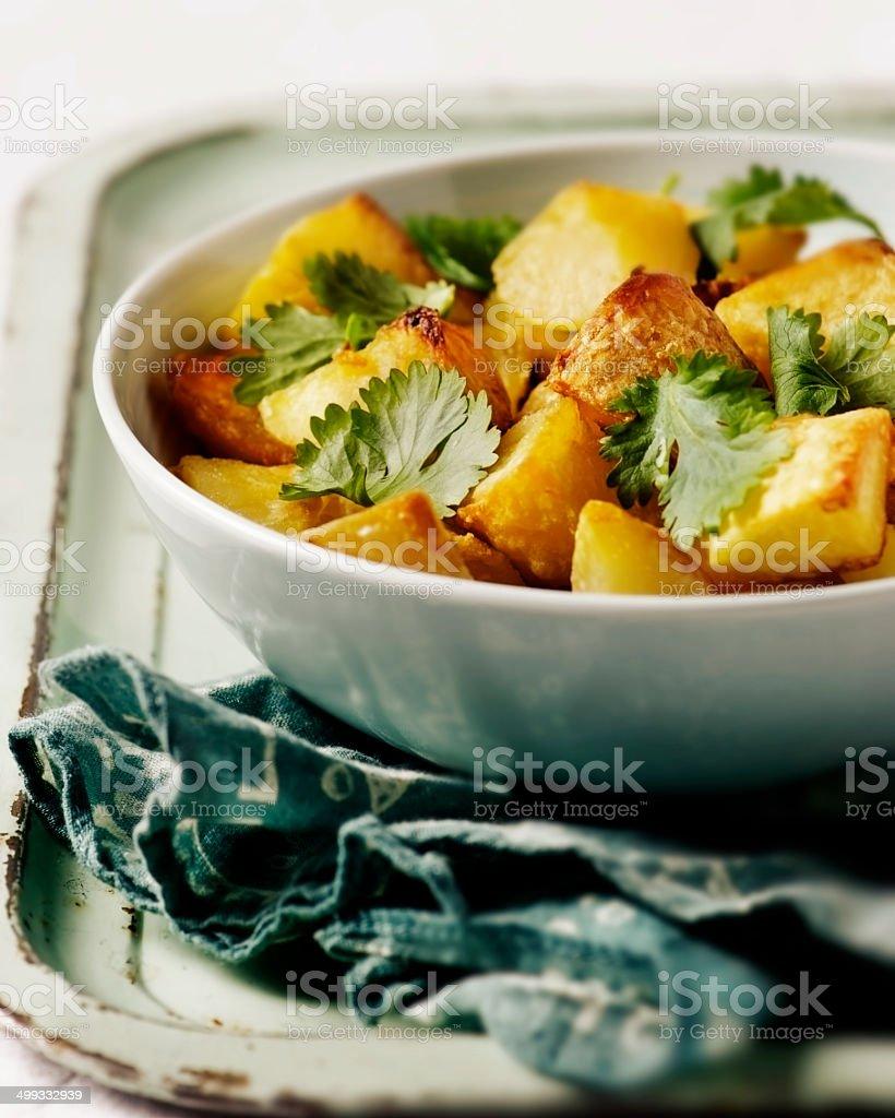 Roasted Potatoes stock photo