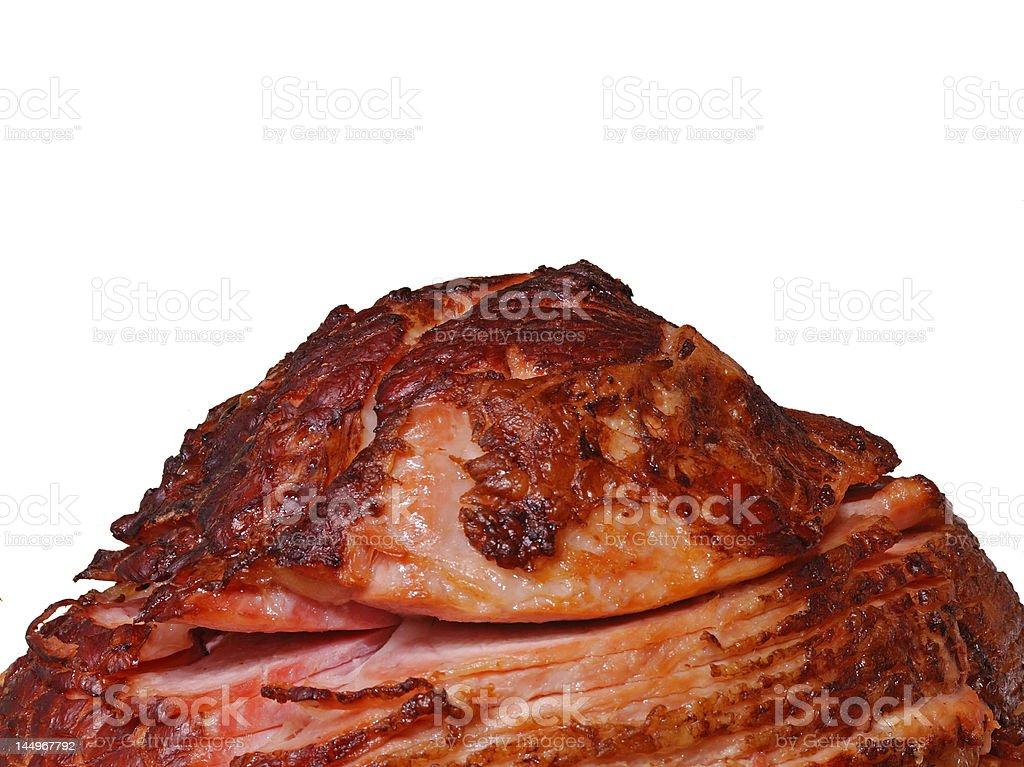 Roasted Pre-sliced Ham stock photo