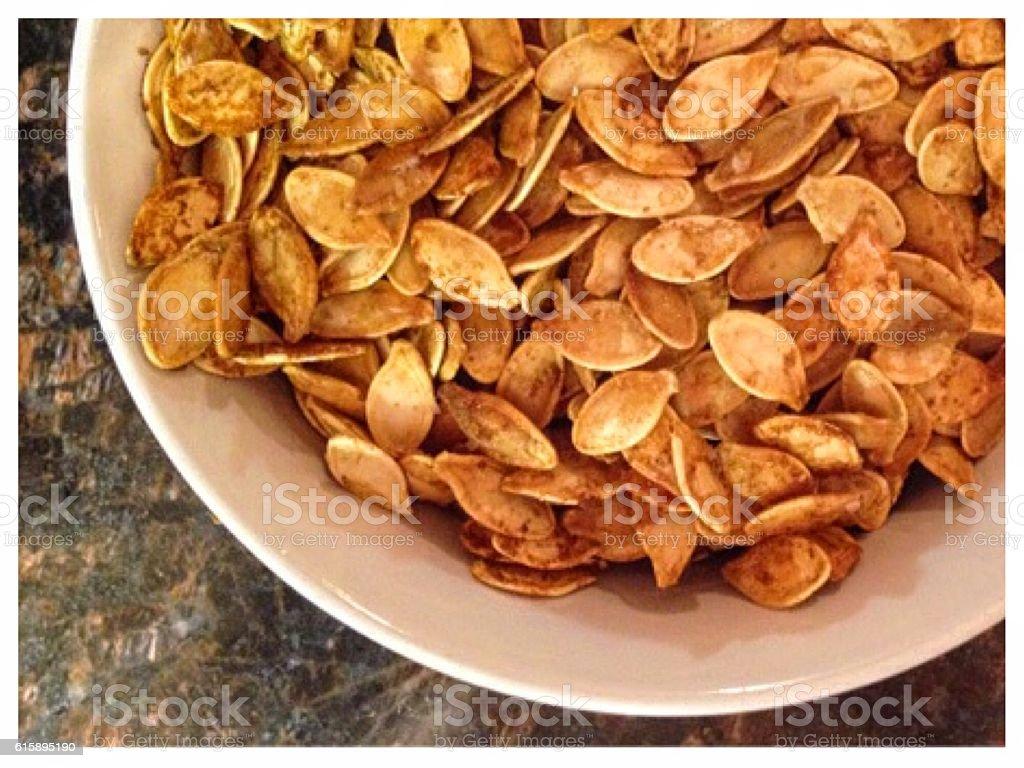 Roasted Pumpkin Seeds stock photo