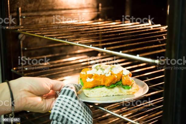 Rostad Pumpa Spenat Och Feta Ost Matlagning-foton och fler bilder på Antipasto