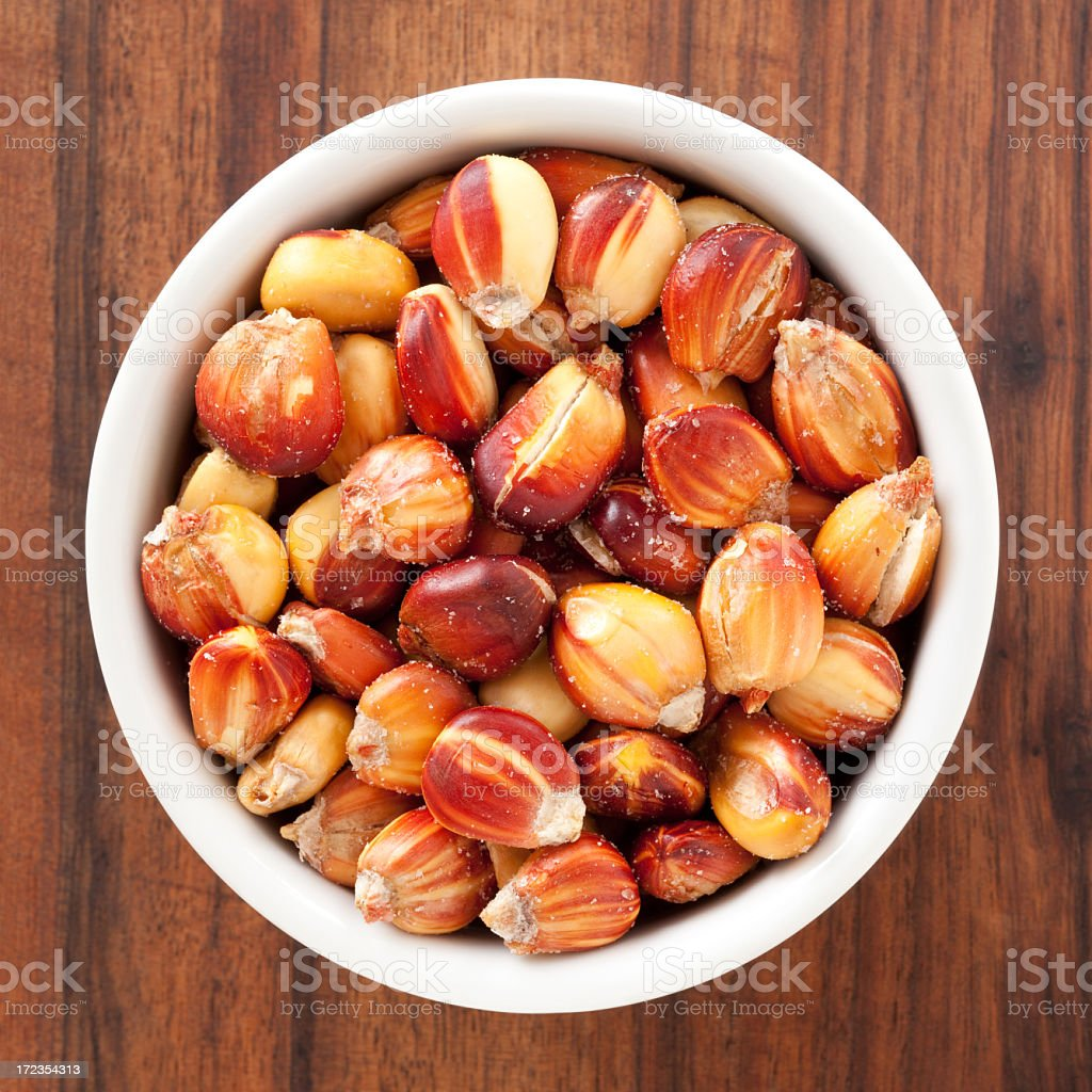 Roasted red corn snacks royalty-free stock photo