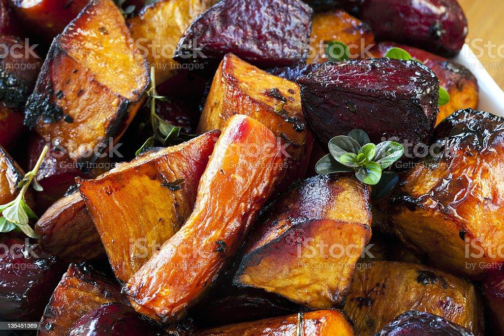 Assado raiz produtos hortícolas - Royalty-free Alimentação Saudável Foto de stock