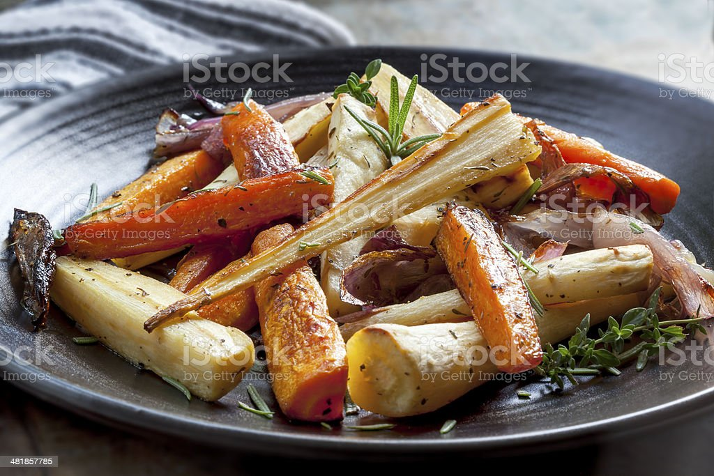 Roasted Root Vegetables stock photo