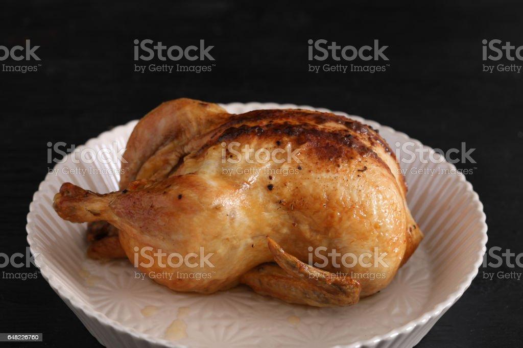 Roasted Rotisserie Chicken stock photo