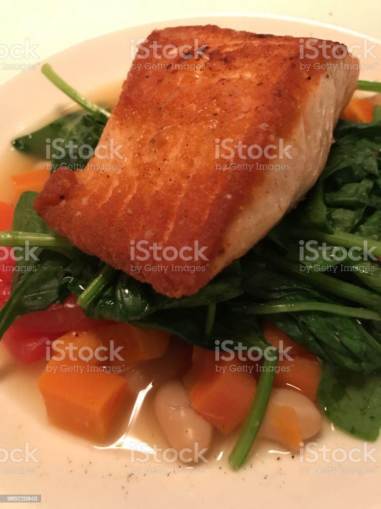 Roasted Salmon royalty-free stock photo