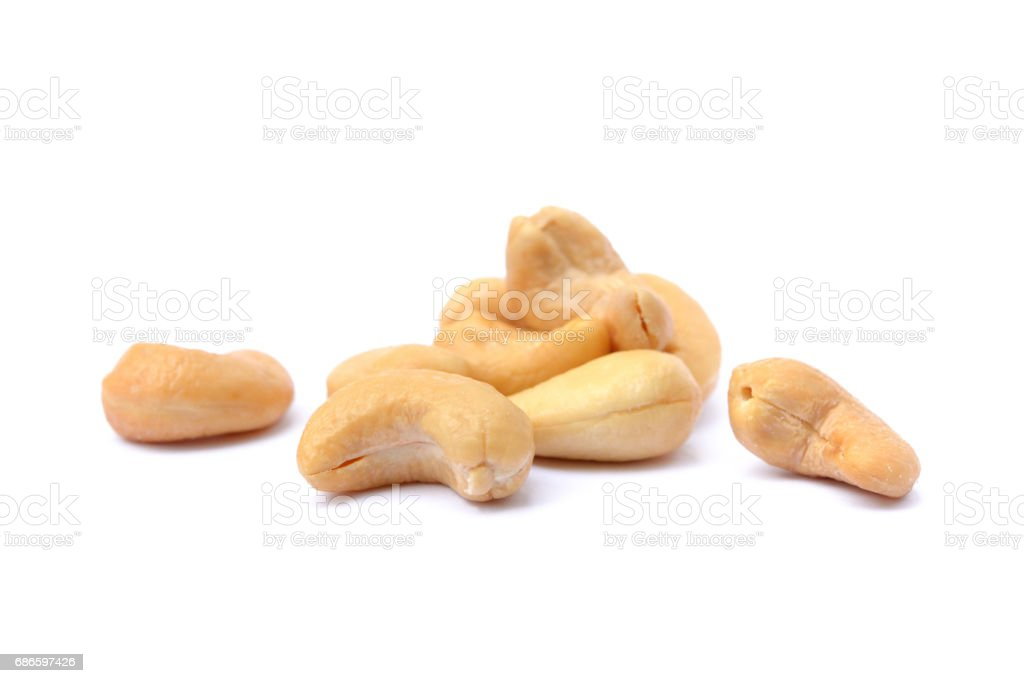 Roasted salted cashews - foto stock