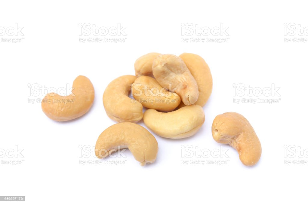 Roasted salted cashews royalty-free stock photo