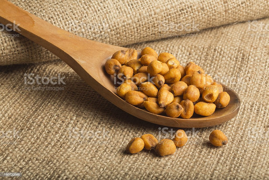 Roasted Salted Corn Seeds royalty-free stock photo