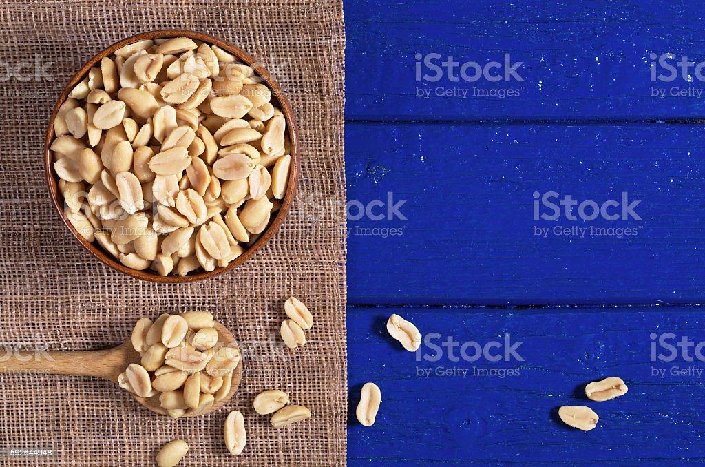 Roasted salted peanuts stock photo