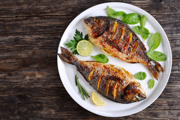 Roasted sea bream fish with lemon slices picture id855749956?b=1&k=6&m=855749956&s=612x612&w=0&h=2rzdfeyroq60p17zvutlug2 dvjhns0e7 bgd5czhf4=