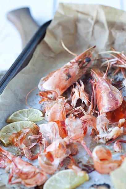 Roasted seafood shells stock photo