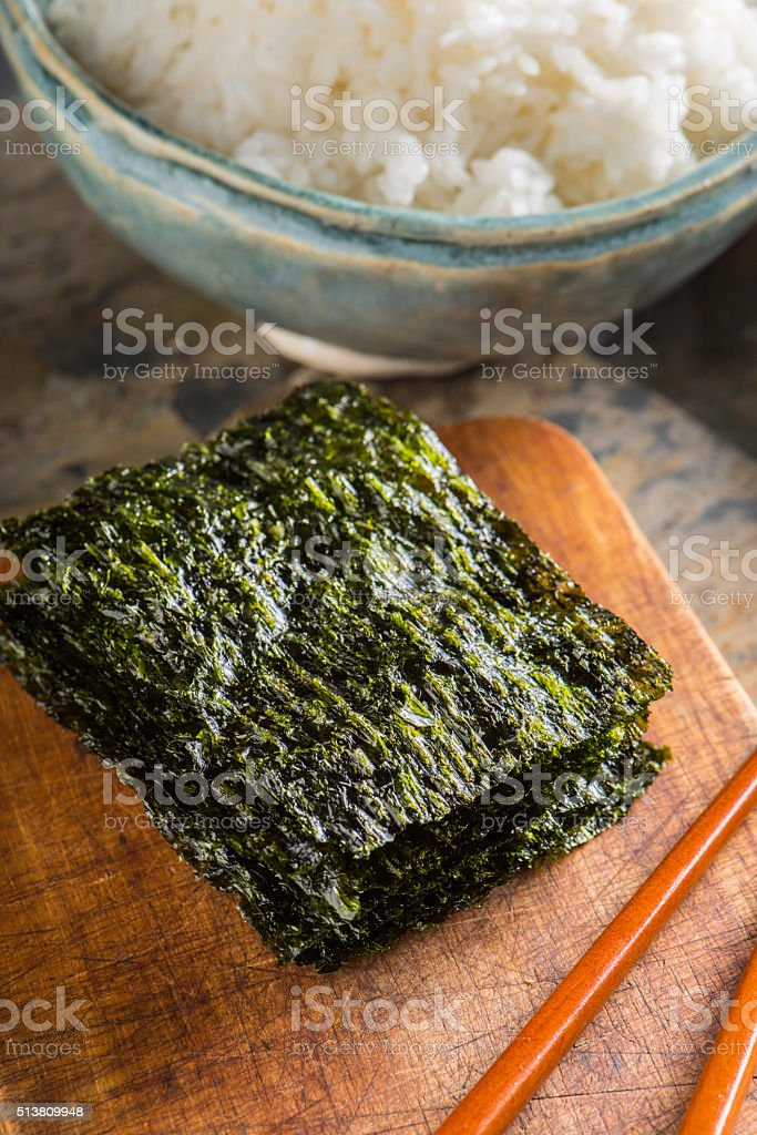 Roasted Seaweed stock photo