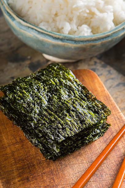 Roasted Seaweed stock photo