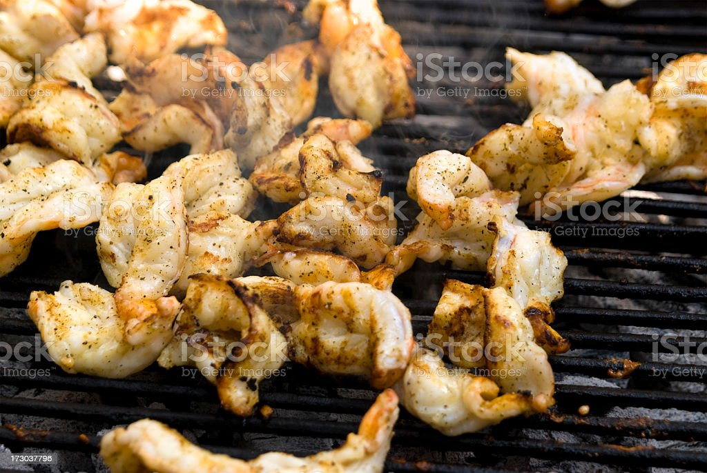 Roasted Shrimps royalty-free stock photo