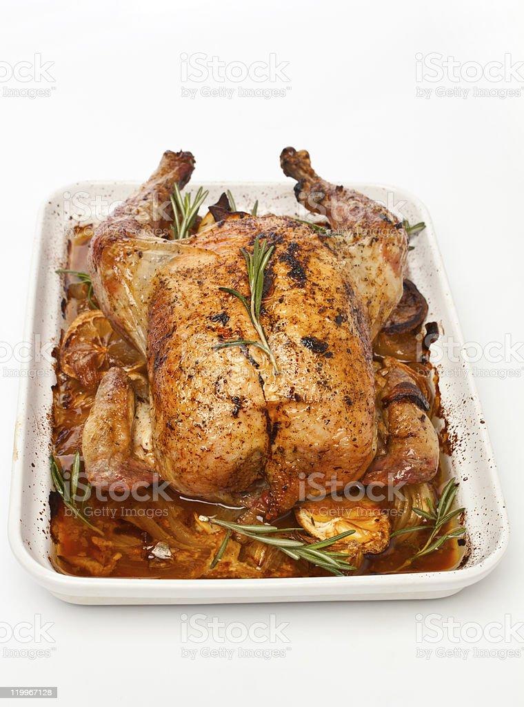 roasted stuffed chicken i stock photo